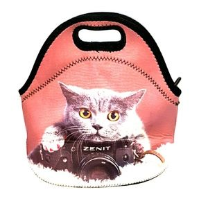 Cat photography lunch bag